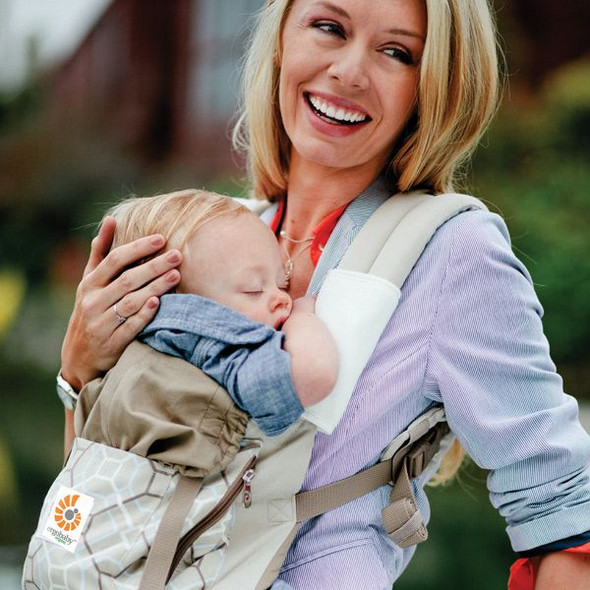Ergobaby Organic Collection Baby Carrier -  Lattice/Taupe