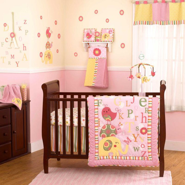 CoCo and Company Alphabet Sweeties Four Piece Bedding Set