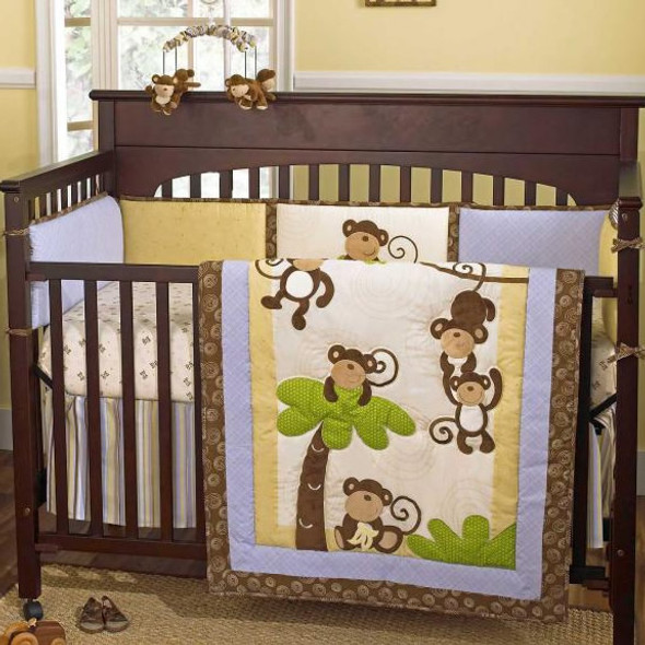 CoCo and Company Monkey Time 4 Piece Bedding Set