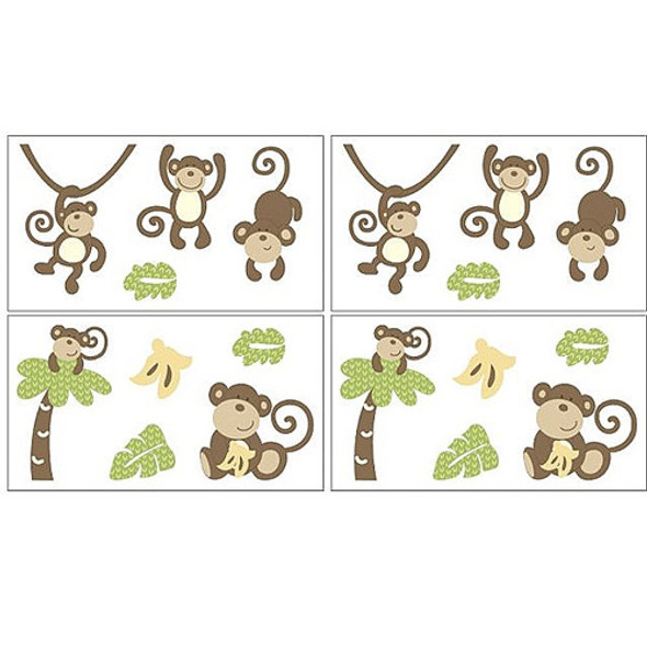 CoCo and Company Monkey Time Wall Decals