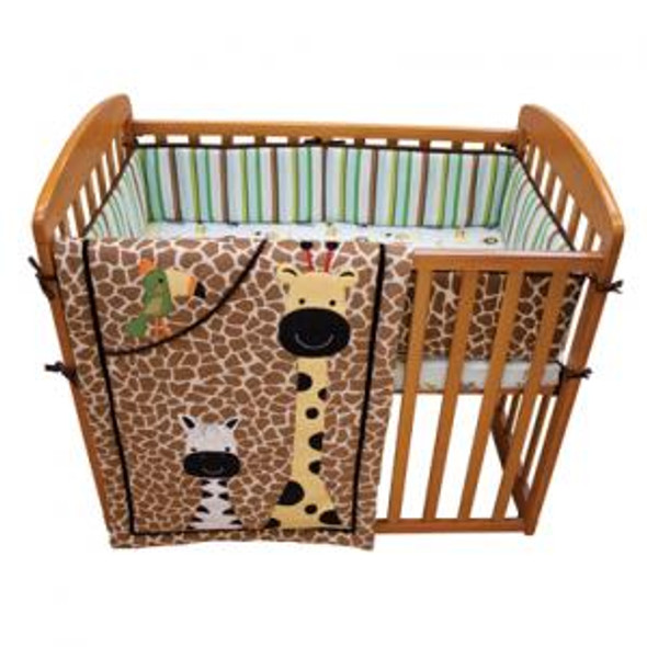 Lambs & Ivy Peek A Boo Jungle Mini Crib Set