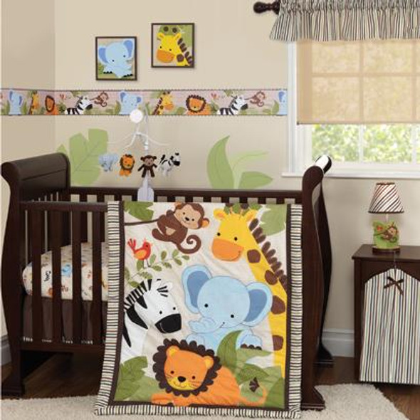 Bedtime Originals Jungle Buddies 3 Piece Bedding Set