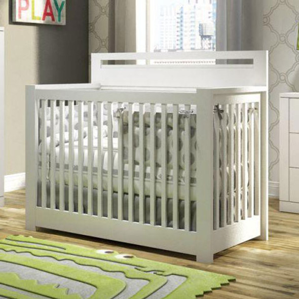 NEST Milano Collection Convertible Crib in White