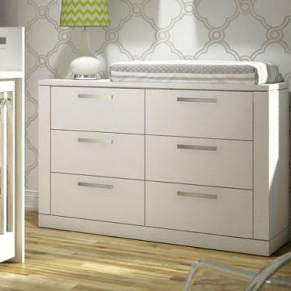 NEST Milano Collection Double Dresser in White