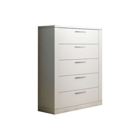 NEST Milano Collection 5 Drawer Dresser in White