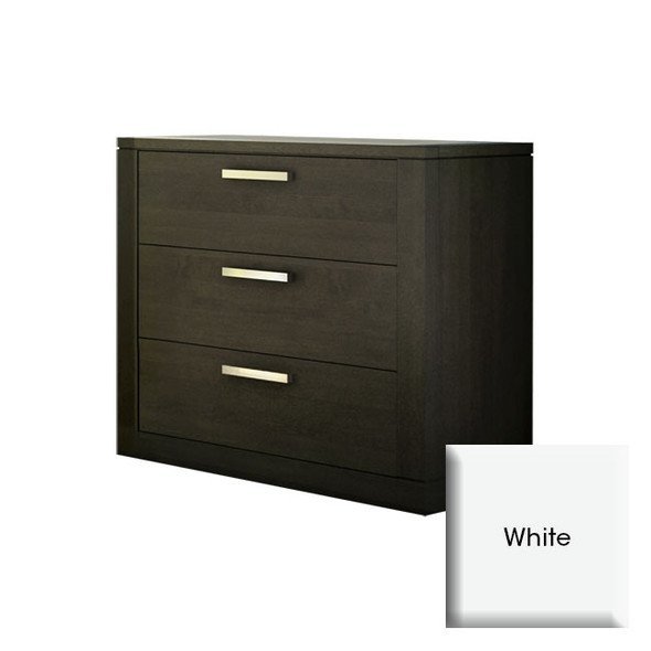 NEST Milano Collection 3 Drawer Dresser in White