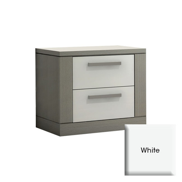 NEST Milano Collection Nightstand in White