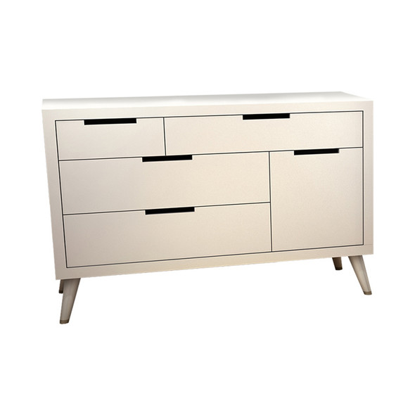 Tulip Juvenile Soren Collection Double Dresser in White