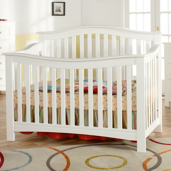 Pali Bolzano Collection Forever Crib in White