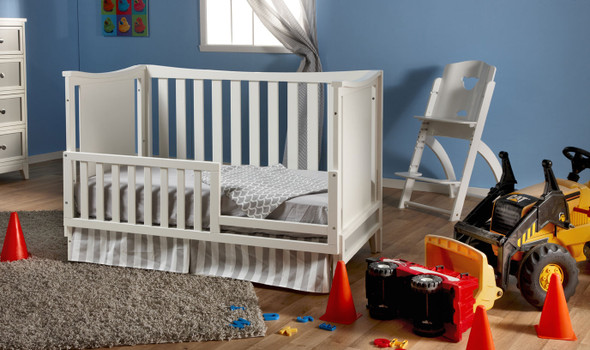 Pali Treviso Collection Forever Crib in White/Grey
