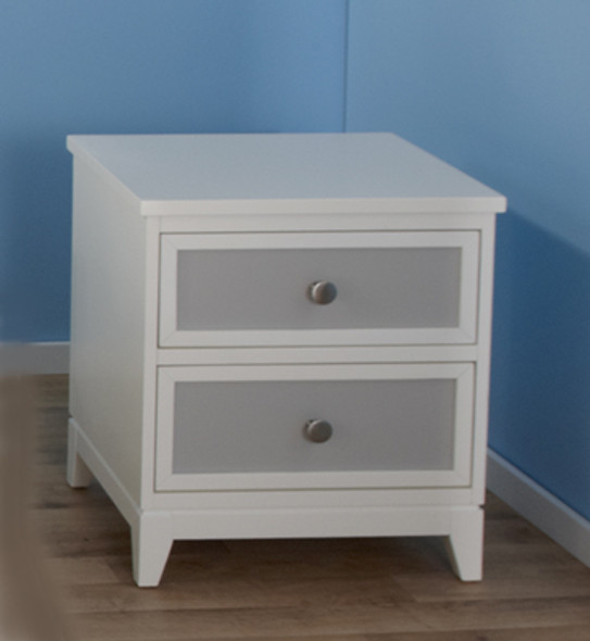 Pali Treviso Collection Nightstand in White/Grey