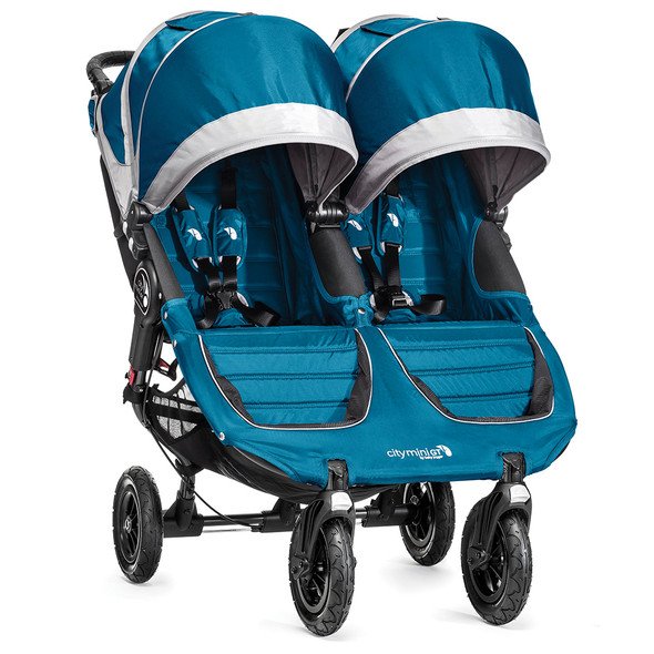 Baby Jogger City Mini GT Double Stroller in Teal/Grey