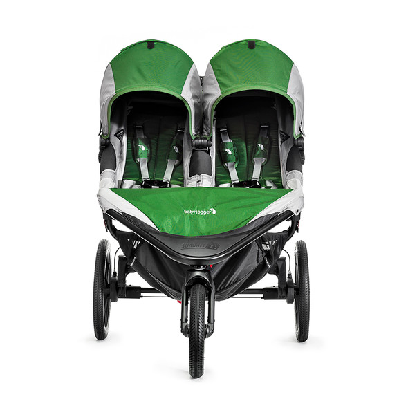 Baby Jogger City Summit X3 Double Stroller in Black/Grey