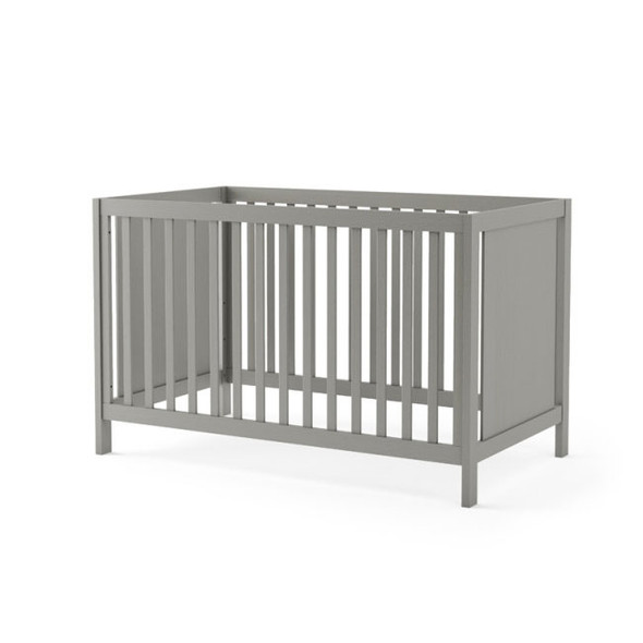 NEST Milano Collection Classic Crib in Elephant Grey