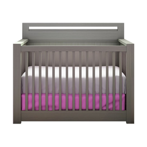NEST Milano Collection Convertible Crib in Elephant Gray