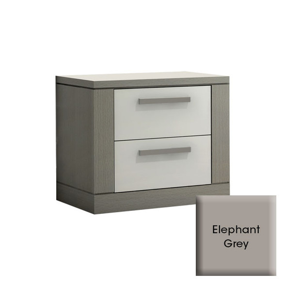 NEST Milano Collection Nightstand in Elephant Grey