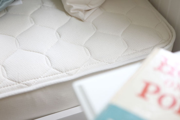Naturepedic Twin Organic Cotton Quilted Deluxe - 2 Sided