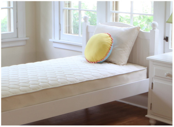 Naturepedic Full Organic Cotton Quilted Deluxe - 1 Sided