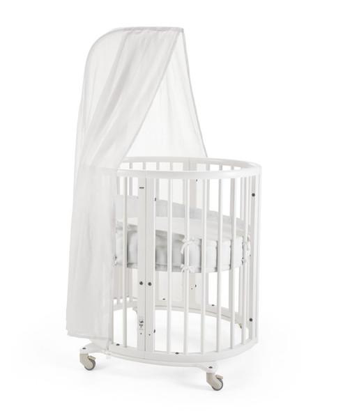 Stokke Sleepi Mini Bundle in White(Mini with Drape Rod; mattress included)
