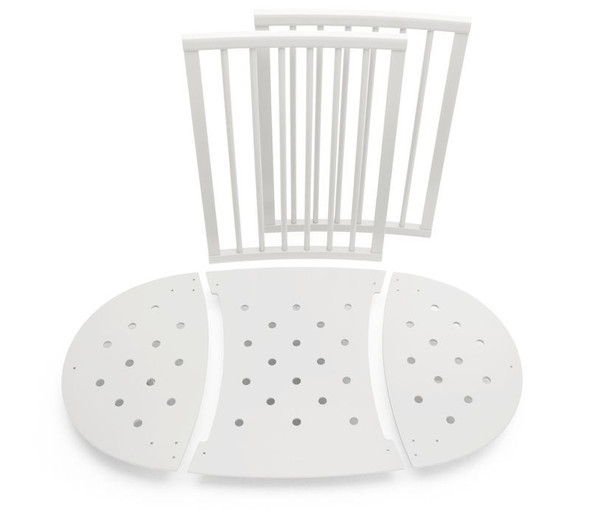 Stokke Sleepi Bed Extensions in White (To convert Mini to Crib; mattress not included)