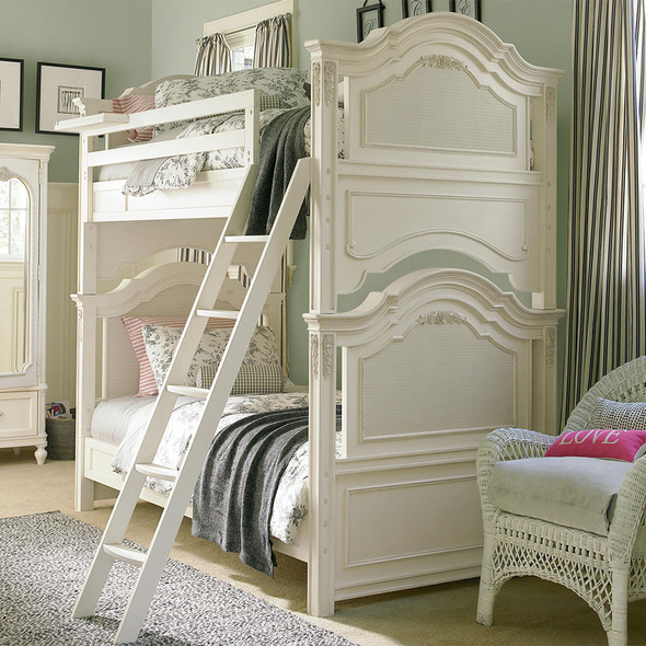Smart Stuff Gabriella Twin Over Twin Bunk Bed in Lace