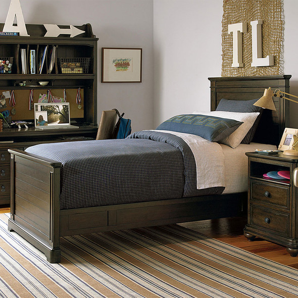 Smart Stuff Paula Deen Kids - Guys Twin Panel Bed in Molasses