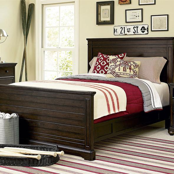 Smart Stuff Paula Deen Kids - Guys Full Panel Bed in Molasses