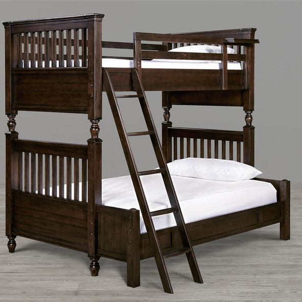 Smart Stuff Paula Deen Kids - Guys Twin Over Full Bunk Bed in Molasses