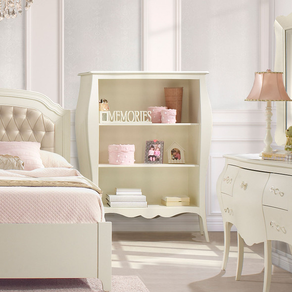 Natart Allegra Collection Bookcase in French White