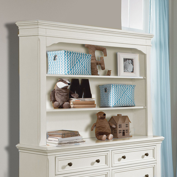 Stella Baby and Child Athena Collection Hutch/Bookcase in Belgium Cream
