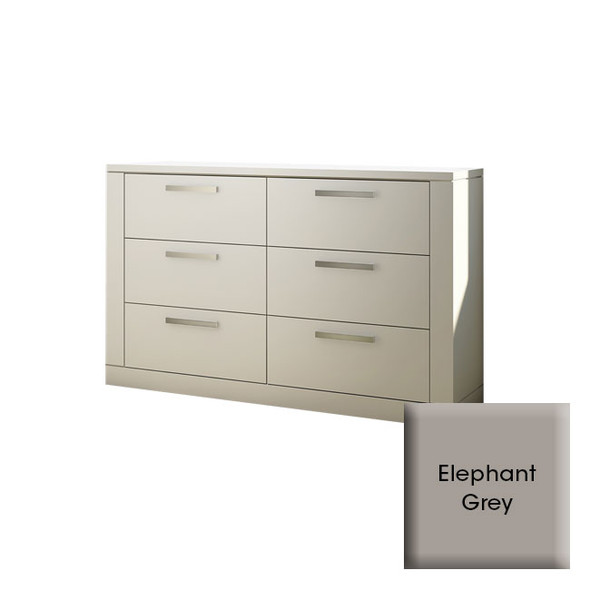 NEST Milano Collection Double Dresser in Elephant Grey