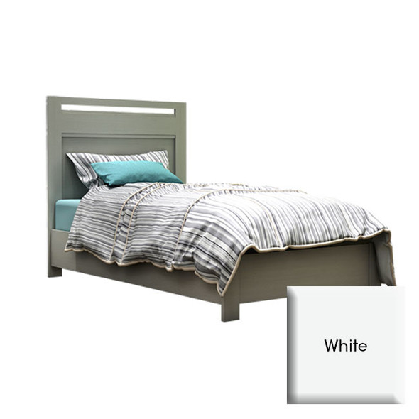 """NEST Milano Collection Milano Twin Bed 39"""" In White"""