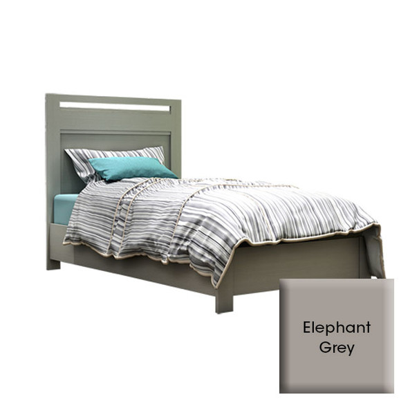 """NEST Milano Collection Milano Twin Bed 39"""" In Elephant Grey"""