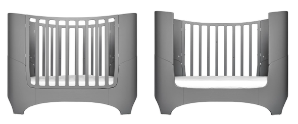 Tulip Leander Crib and Conversion Kit in Grey