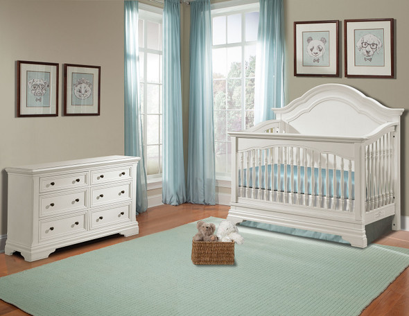 Stella Baby and Child Athena 2 Piece Nursery Set in Belgium Cream-1