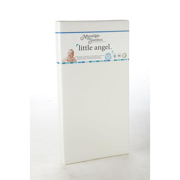 Moonlight Slumber Little Angel All Foam Crib Mattress - One Firmness w/Lilac Ribbon