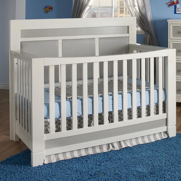 Pali Cortina Forever Crib in White/Grey