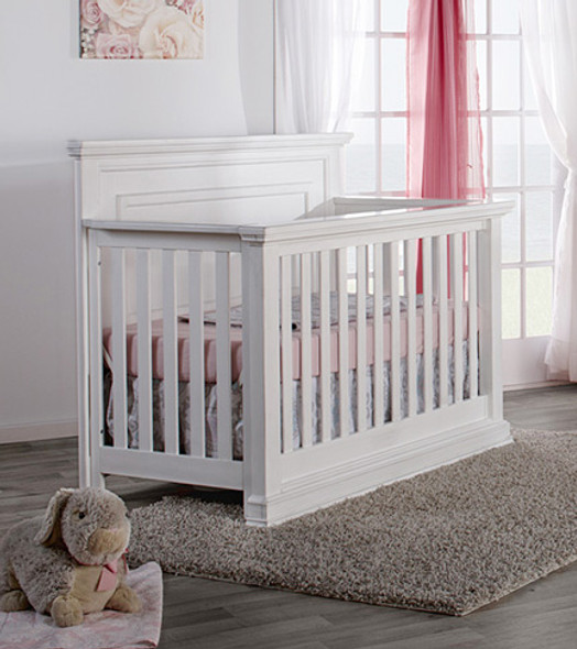 Pali Modena Collection Forever Crib in Vintage White