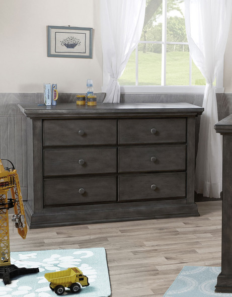 Pali Modena Collection Double Dresser in Granite