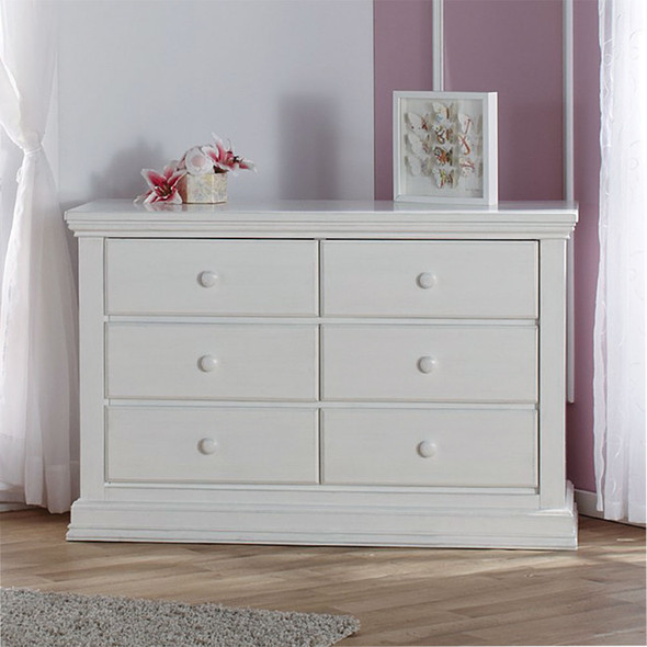 Pali Modena Collection Double Dresser in Vintage White