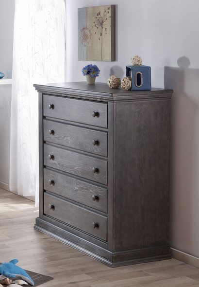 Pali Modena Collection 5 Drawer Dresser in Granite