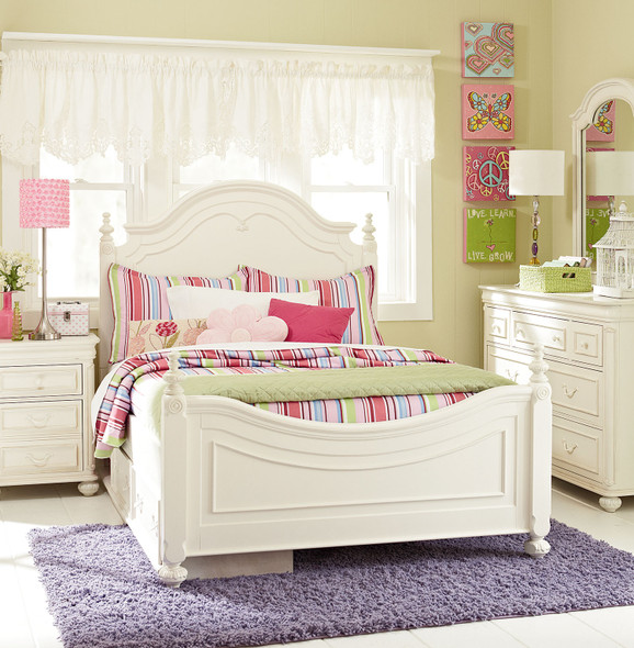 Legacy Classic Kids Charlotte Full Size Low Poster Bed