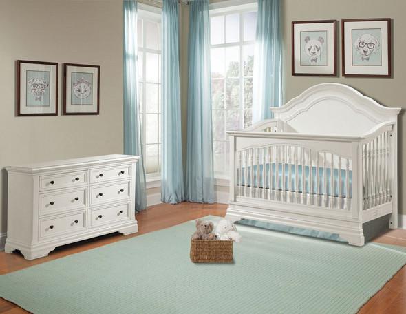 Westwood Athena 2 Piece Nursery Set Crib and Double Dresser in Belgium Cream
