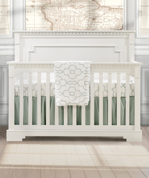 Natart Ithaca Collection 5 in 1 Convertible Crib in White