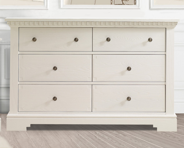 Natart Ithaca Collection Double Dresser in White