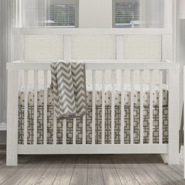 Natart Rustico Collection 5 in 1 Convertible Crib in White