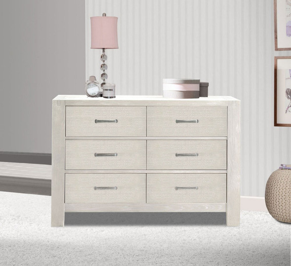 Natart Rustico Collection Double Dresser in White