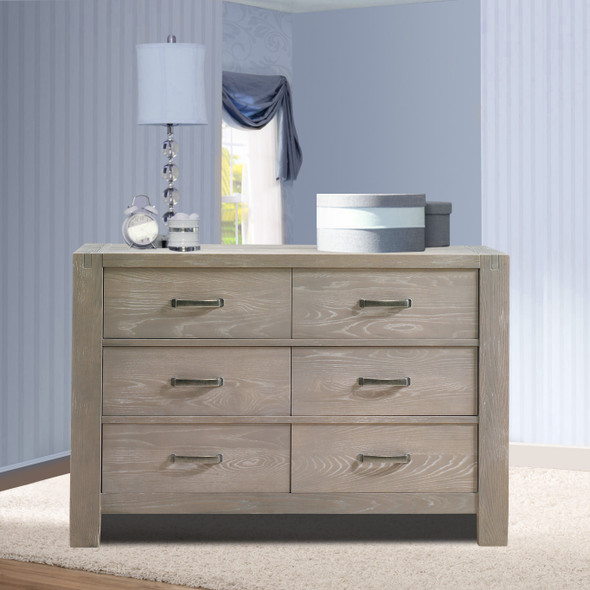 Natart Rustico Collection Double Dresser in Sugar Cane