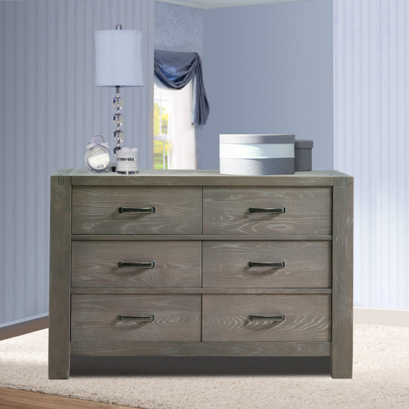 Natart Rustico Collection Double Dresser in Owl