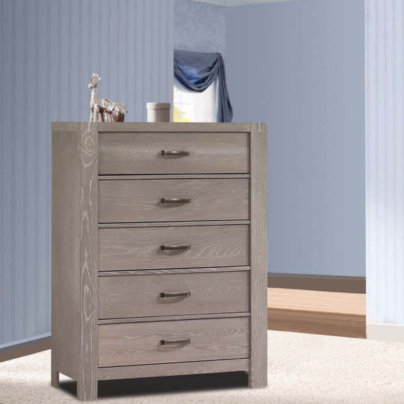 Natart Rustico Collection 5 Drawer Dresser in Sugar Cane